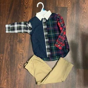 Ralph Lauren Button & Khaki Pant